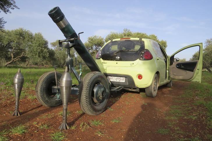 102mm Mortar pulled by a Prius