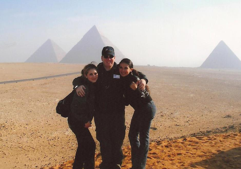 Jeremy and friends in Cairo