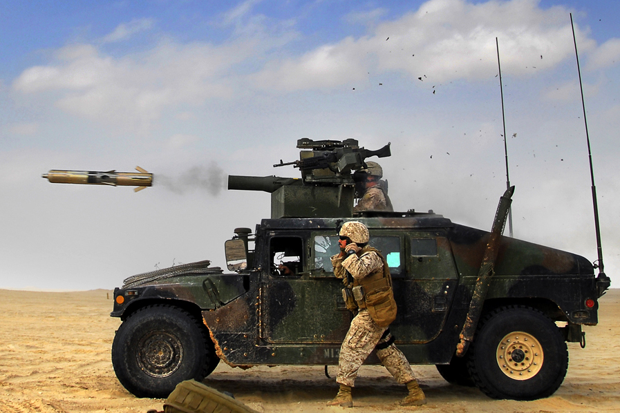 Humvee mounted anti-tank TOW missile system