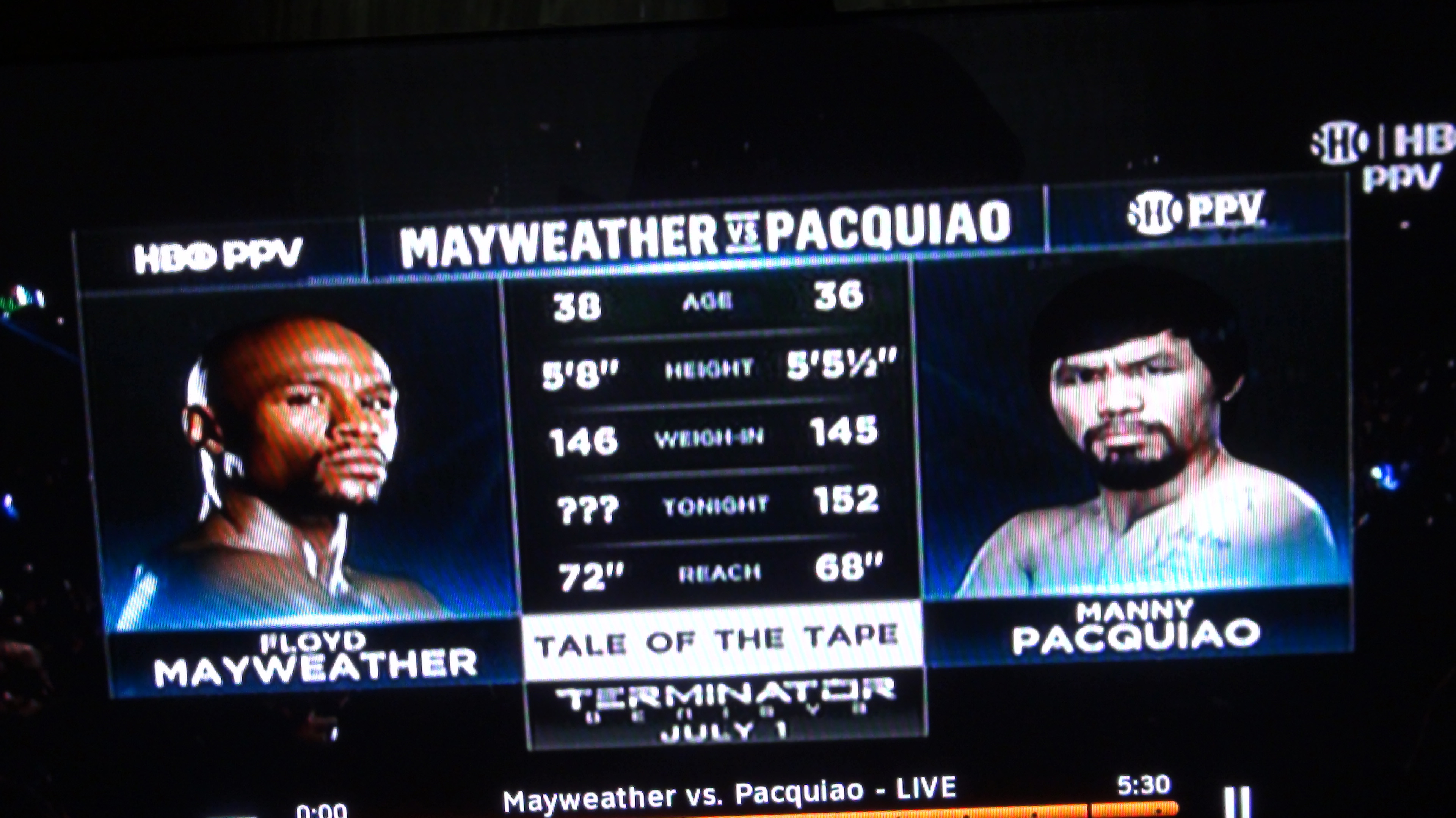 The so-called epic matchup