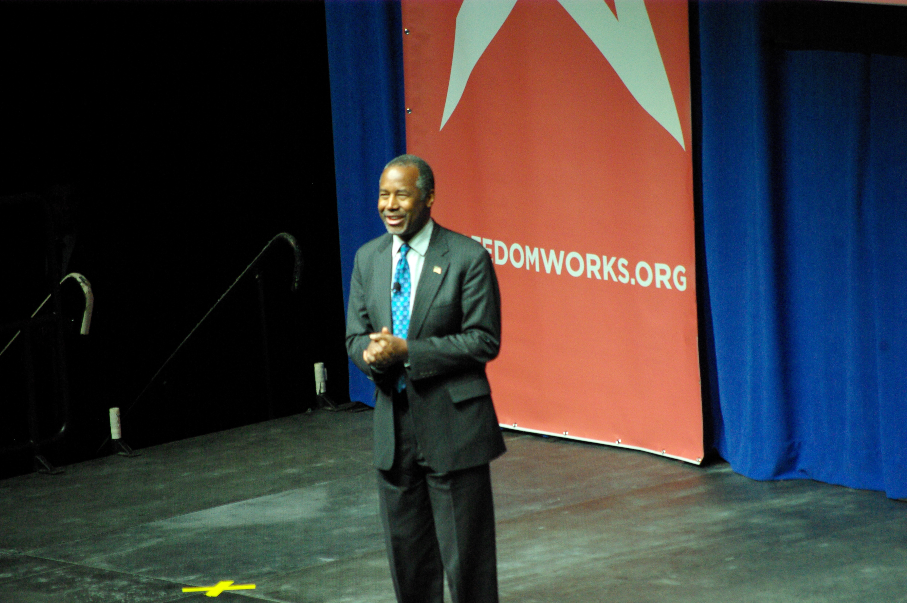Dr. Ben Carson was met by an enthusiastic and appreciative crowd. Over 2,000 people participated in the Freedomworks Rising Tide Summit Saturday. -photo by Jeremy Griffith