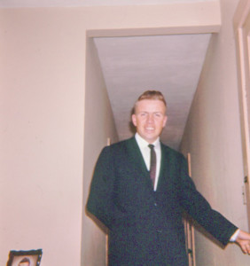 Dad in a fancy suit.