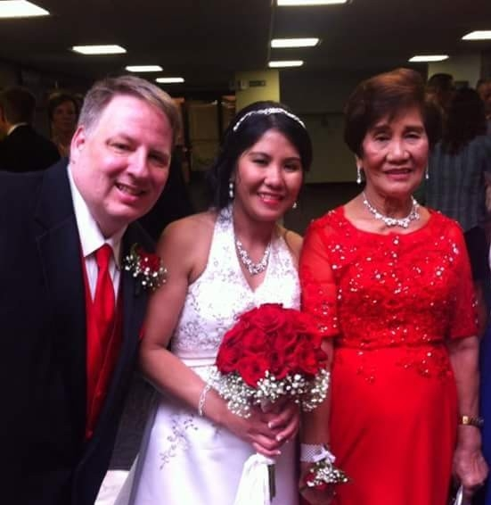 Jeremy, Roselle, and Roselle's mom Rosalina. photo by Kristen Lindgren.
