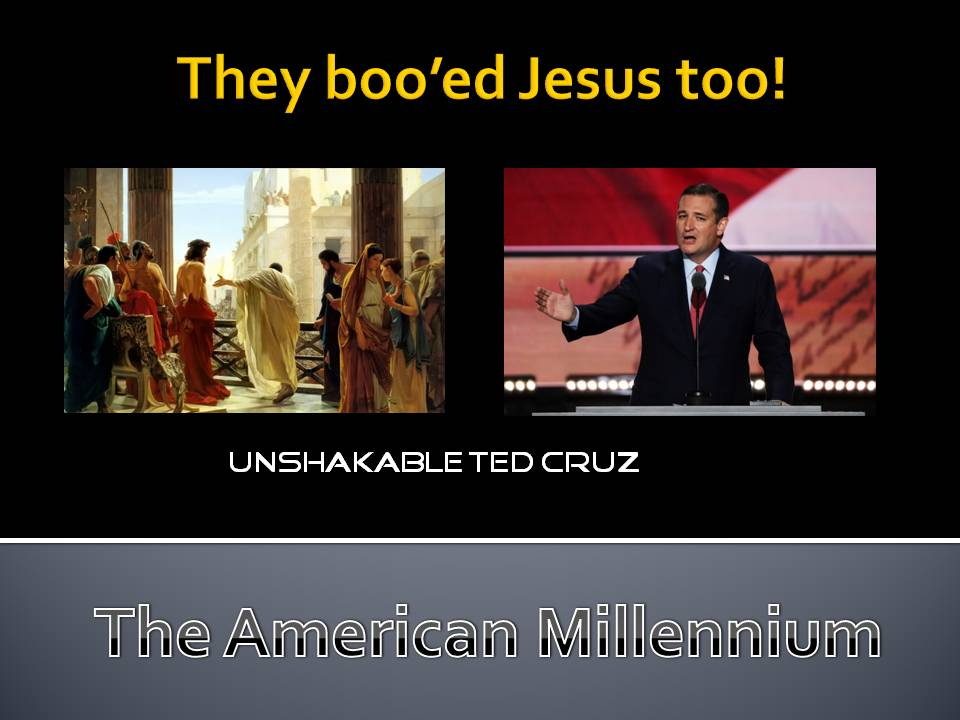 They boo'ed Jesus too! meme created by Jeremy Griffith